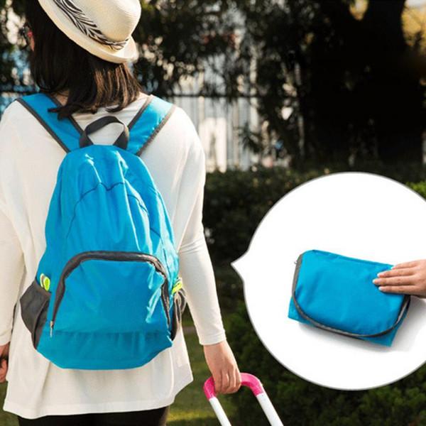 best selling Hot New High Quality 2016 Fashion Travel Backpacks Zipper Soild Nylon Portable Back Pack Women Men Shoulder Bags