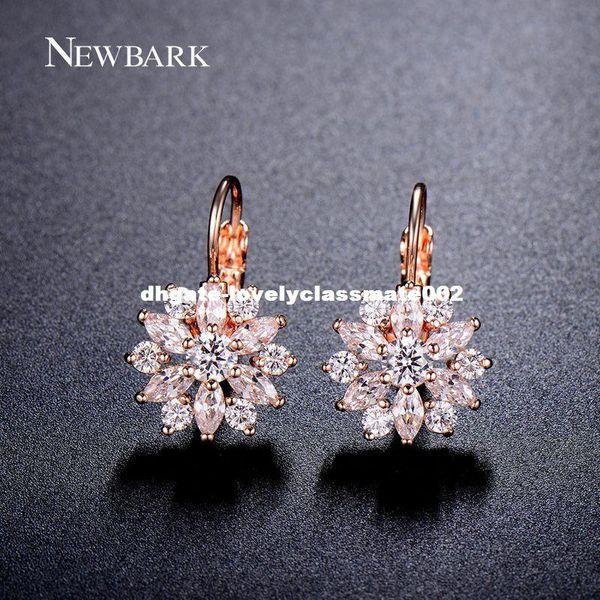 dhgate Luxury Ear Cuff Earring 6pcs Marquise CZ Formed Brilliant Flower Stud Earrings with Zircon Stone Women Birthday Gifts