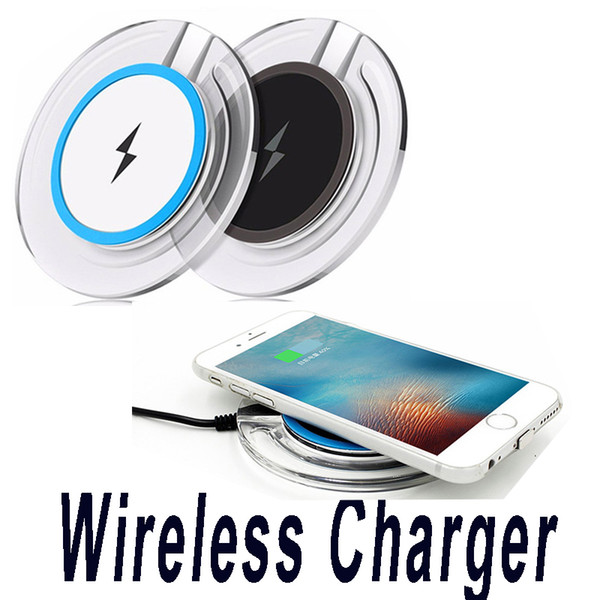top popular Universal Ultra-slim Wireless Charger Qi Charging Pad For S8 Plus S7 Edge S6 S6 Edge Plus Note 5 2020