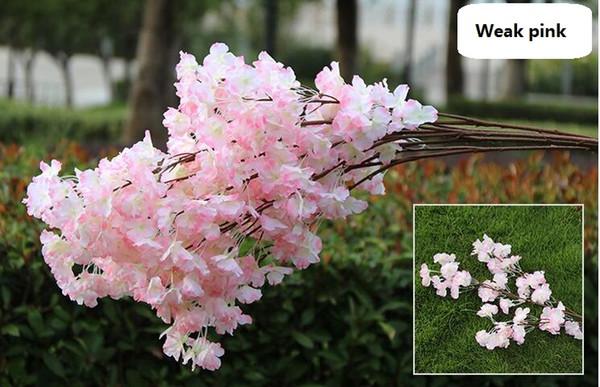 3 bifurcations single petals weak pink