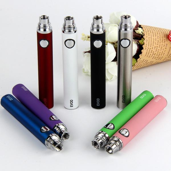 Высочайшее качество Evod Battery 650/900 / 1100mAh Различные цвета для электронной сигареты GS H2 CE4 MT3 Мини Protank 3 T3S Распылители Tank Vape Vaporizer Kit