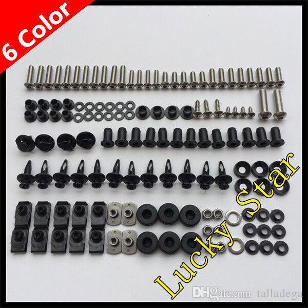 100% para SUZUKI GSXR600 GSXR750 GSXR 600 750 GSX R600 R750 2001 2002 2003 01 02 03 Perno para carenado de la carrocería Juego de fijación de tornillos para tornillos