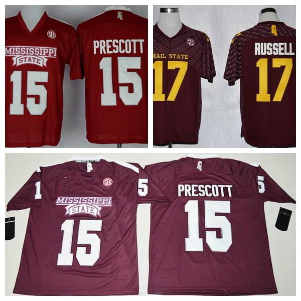 best loved 57167 934fc 2019 NCAA Mens Bulldogs Jerseys Wholesale Cheap 15 Dak Prescott College  Football Jersey Maroon Red Stitched Embroidery Logos From Fans_edge, $16.26  | ...