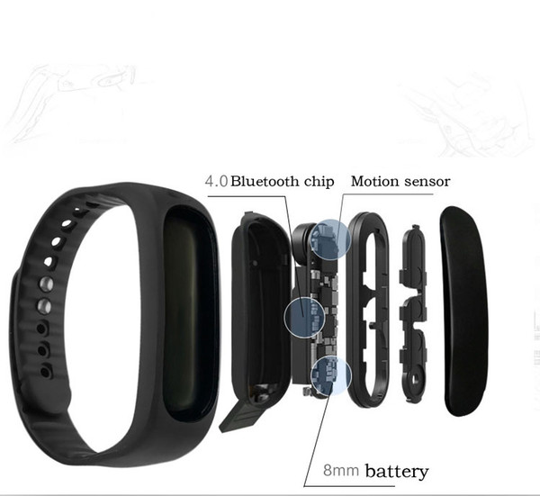 top popular Wholesale h9e02 upgrade version of Andrews ios fashion gifts smart waterproof sports bracelet manufacturers oled free shipping 2019