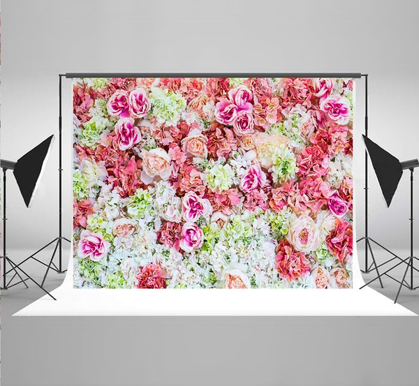 7x5ft(220x150cm) Colorful Flowers Photographic Backgrounds Natural Scenery Backdrop for Newborn Photography Props