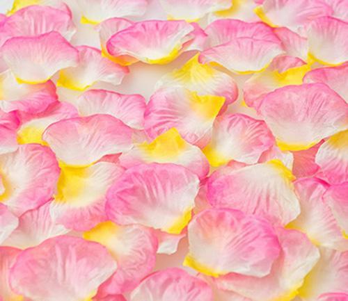 white pink & yellow