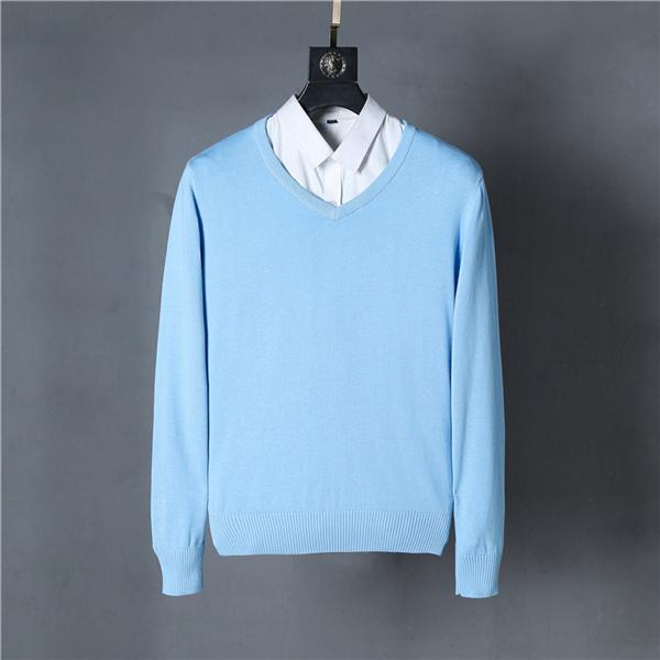 best selling Brand New Men's V-neck Sweaters 100% cotton 12 colors 1pcs lot Plus size S-XXL men knited pullover drop shipping