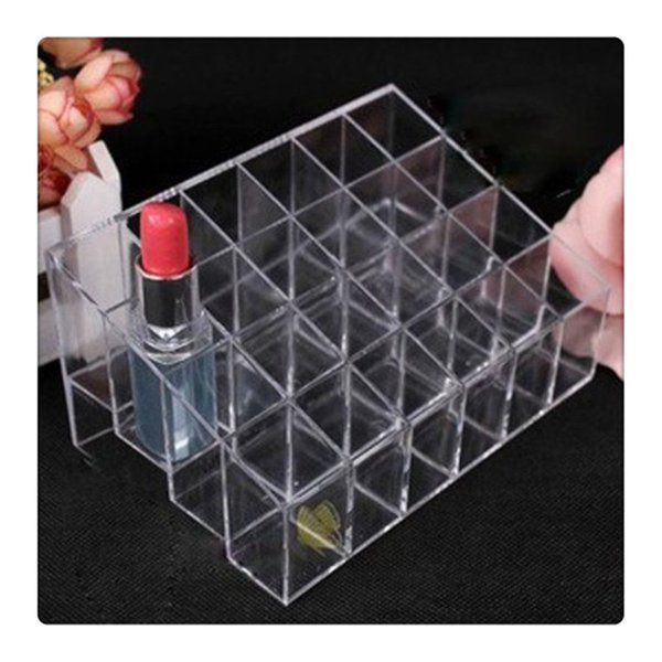 best selling Display Rack Holder Acrylic Jewelry Cosmetic Storage Display Stand Boxes Makeup Cosmetic Organizer Display Stand Free Shipping