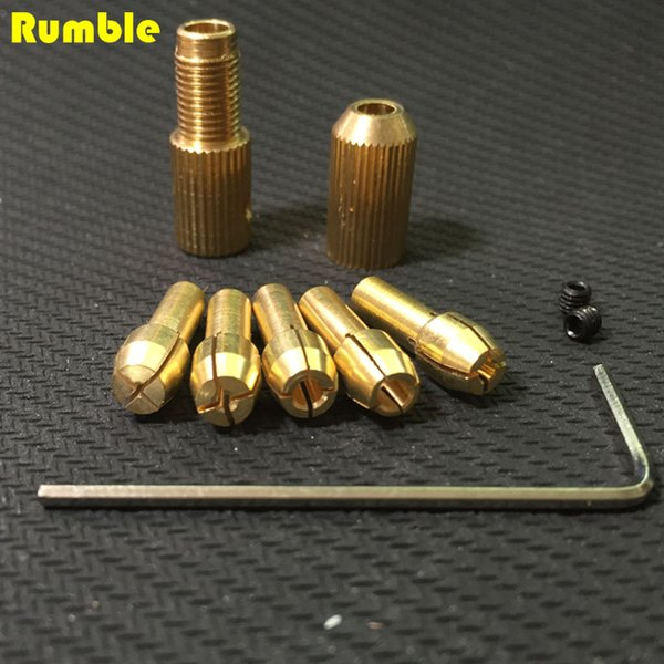 best selling New Style 0.5-3mm Copper Small Electric Drill Bit Collet Micro Twist Drill Chuck Set With Allen Wrench For DIY Tools Convenient