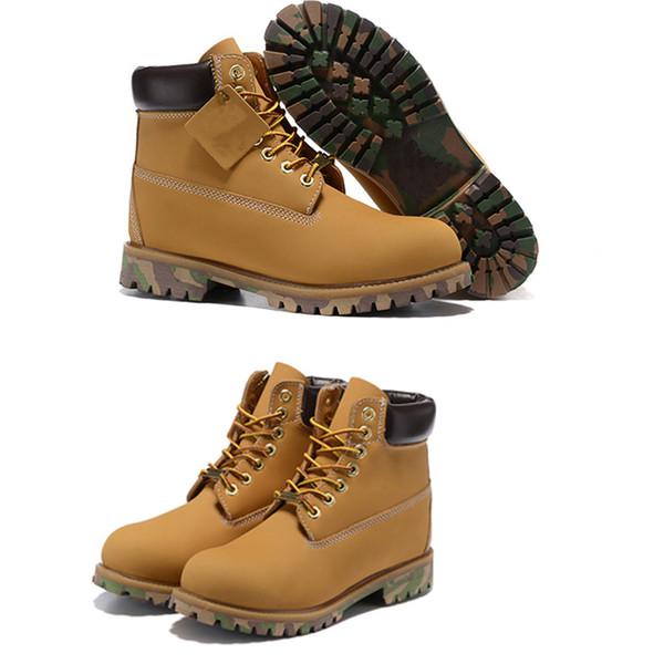 Femmes Plein Air De L'eau Camouflage Chaussures Acheter Véritable À De Haute Qualité De Martin Hommes Imperméable Cuir En Neige Bottes Bottes qLAj345R