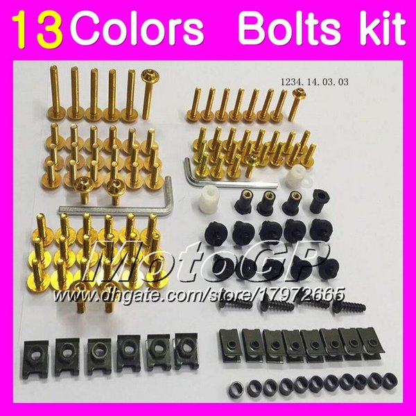 Fairing bolts full screw kit For HONDA VFR800 07 08 09 10 12 VFR 800 VFR800RR 2007 2008 2009 11 2012 Body Nuts screws nut bolt kit 13Colors