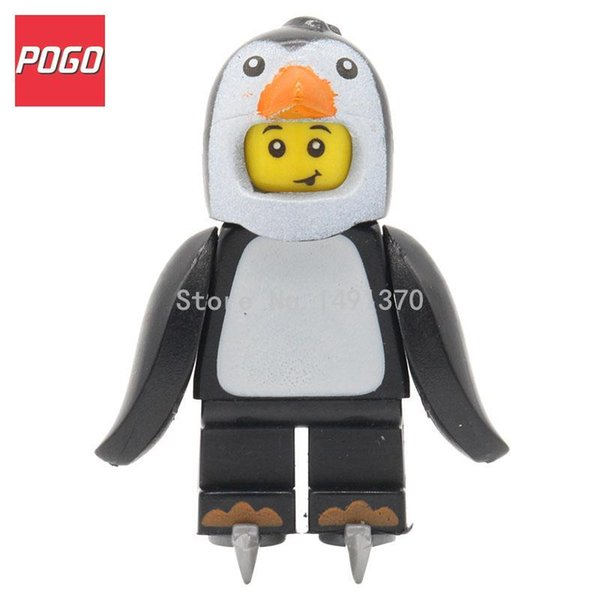 Wholesale- POGO Collectable Figures Series 16 Penguin Boy Suit Banana Guy Single Sale Building Blocks Children Kids Gift Toys 71013 PG962