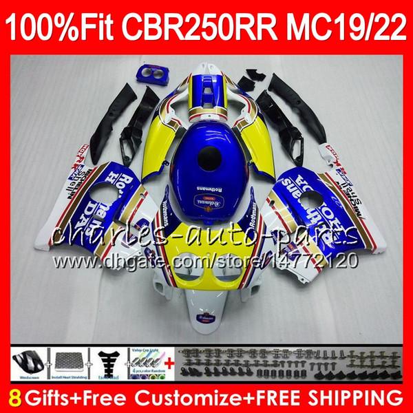 Injection For HONDA CBR 250RR CBR250RR 88 89 90 91 92 93 Rothmans Blue 96HM12 MC19 MC22 250 CBR250 RR 1988 1989 1990 1991 1992 1993 Fairing