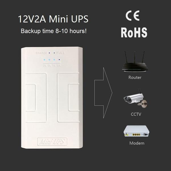 Alimentatore ininterrotto da 12V a CA da 1 a 10 Alimentatore ininterrotto Fornire alimentazione di emergenza a telecamera CCTV con batteria incorporata