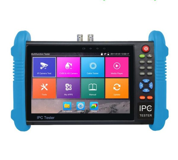 New 7 inch IP CCTV tester monitor ip analog camera tester H.265 4K video testing support ONVIF wifi POE 12V output