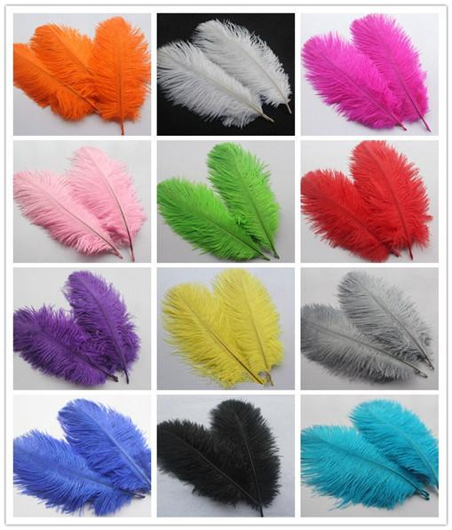HOT ! Ostrich Feather Plume,100pcs lot 6-8inch Blue,Pink,Purple,Orange,Yellow,Black,Red,Green Wedding centerpiece table Decoration TNM-00027