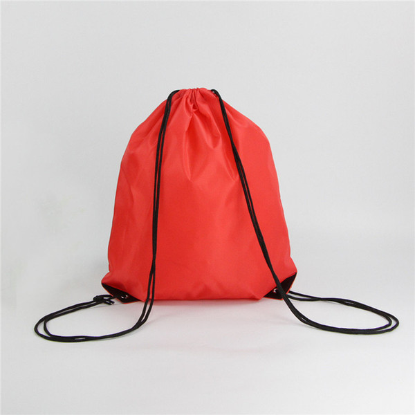 200pcs 10 Color 35*40CM Outdoor Sport Camping Hiking Climbing Cycling Nylon Drawstring Backpack Bags Support Logo Print
