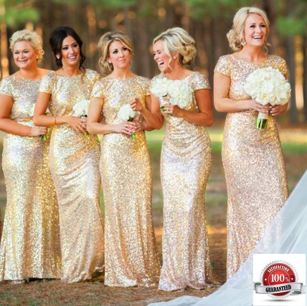 Bridal Dress Mermaid Gold Shimmering Sequin