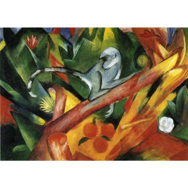Peintures modernes décoratives Franz Marc L'art des singes pour la décoration murale huile sur toile peinte à la main