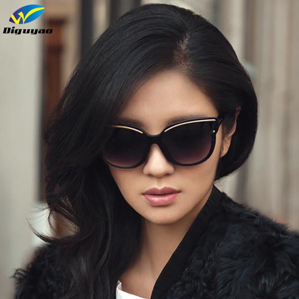 DIGUYAO oculos de sol feminino 2016 Óculos De Sol Das Mulheres Da Moda Olho De Gato Quadro Espelho Óculos de Sol Dos Homens Lisos Óculos de Sol UV400