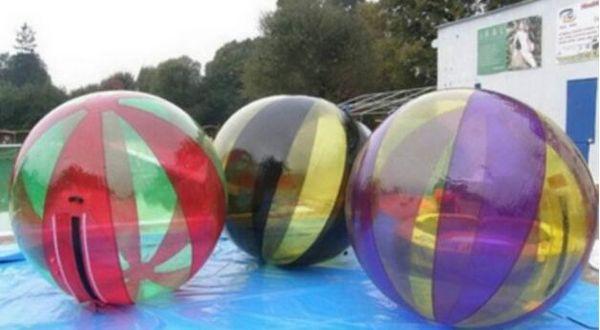 2017 HOT summer play 2m Cheap transparent inflatable walking water ball pool human hamster water walking ball Free shipping