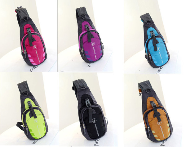 best selling 50pcs lot 2017 New Chest bag Men Women Nylon Waterproof Sport Chest Pouch Bag Shoulder Sling Bag Nylon Running Outdoor Cross Body Bags