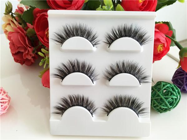 60pair/lot Sexy 100% Handmade 3D mink hair Beauty Thick Long False Mink Eyelashes Fake Eye Lashes Eyelash High Quality Free shipping