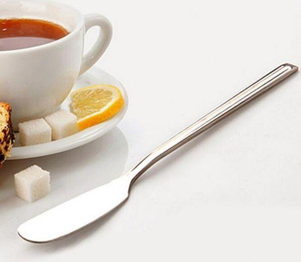 500pcs Stainless Utensile posate burro coltello formaggio Dessert Jam Spreader Breakfast Tool # 5727