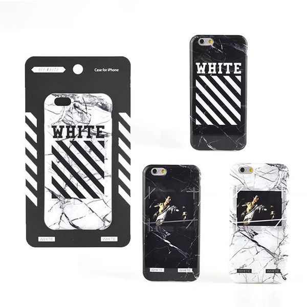 foto ufficiali 2f8cd 236df Fashion Brand OFF White Stripe Marble Oil Painting Case Cover For IPhone 7  6 6S Plus High Quality Phone Case Bedazzled Phone Cases Cell Phone Cases ...