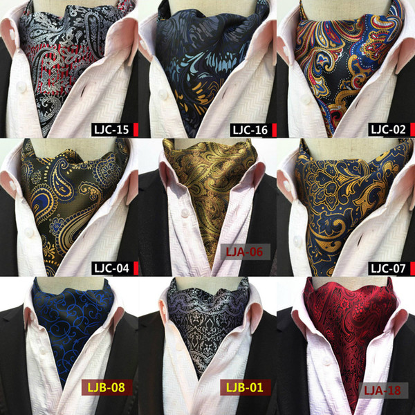 2019 Paisley Cravat Casual Men Ties British Style Cravat Gentleman Silk Neck Ties Suit Scarves High Quality Fashion Handmade Necktie Floral