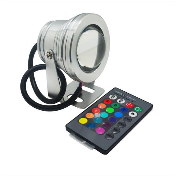 Faretto a LED 10W RGB Illuminazione subacquea a LED Paesaggio Luci a LED Custodia in alluminio IP68 AC DC 12V