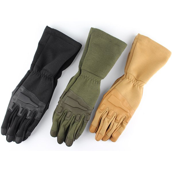 Men's Outdoor Paintball Airsoft Shooting Combat Slip-resistant Flame Resistant Cut resistant Kevlar King-size Full Finger Tactical Gloves