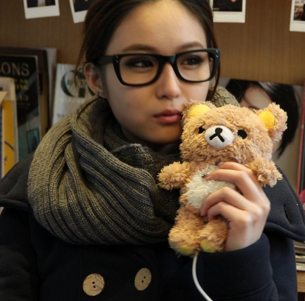 "Winter Warm Lovely 3D Teddy Bear Doll Toy Plush Soft phone Cover For iphone 5 6 4.7"" Brown beige Case"