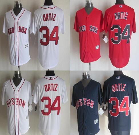 official photos b9276 16ad5 Discount 34 David Ortiz Jersey Boston Red Sox Jerseys Cool Base Jersey  Cheap Baseball Sport Jersey Color White Blue Red From China | Dhgate.Com