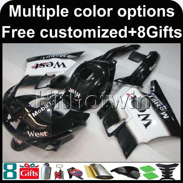 23 colores + 8 recambios negro azul CBR600F2 91-94 91 92 93 94 ABS Carenados Kit de carenado de carrocería para honda CBR 600 F2 1991 1994 Conjunto de carrocería de plástico ABS