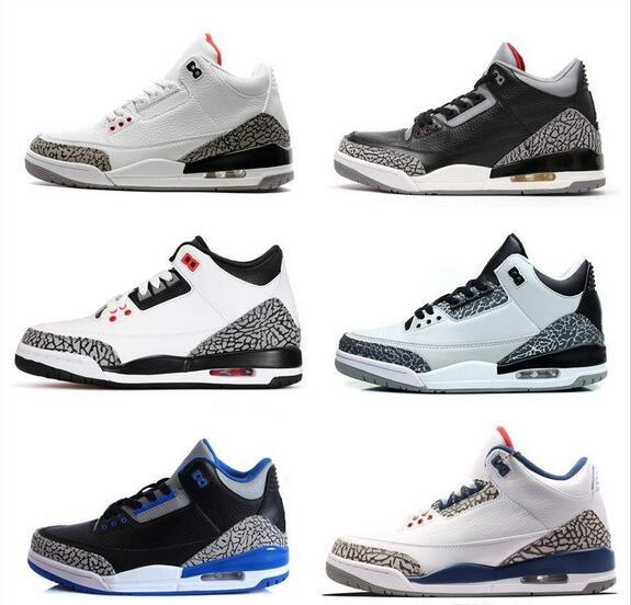 uk availability f9467 ace03 Retro 3 White Black Cement Infrared 23 Wolf Grey Mens Basketball Shoes  Sneakers For Men Women Good Quality Version US Size 5.5 13 Athletic Shoes  Shoes ...