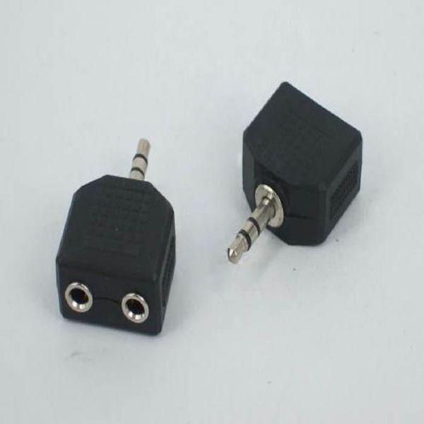 1 Maschio a 2 Femmina Audio Splitter per Cuffie Adpater per Cuffie Auricolari Convertitore Connettore Splitter Cuffie