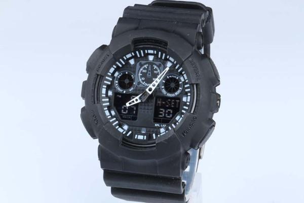 1pcs top relogio hombres relojes deportivos, cronógrafo LED reloj de pulsera, reloj militar, reloj digital, buen regalo para los hombres chico, dropship