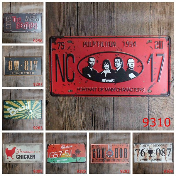 Stars 30X15 CM Iron Painting New Mexico In London Retro Tin Posters The Beatles License Plates Metal Tin Sign Premuim Chicken 3 99rjE
