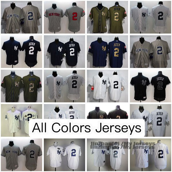 official photos c9a21 14d38 2019 Derek Jeter New York Yankees Jersey White Gray Navy Blue Black Olive  M&N Throwback Cooperstown Majestic Cool/Flex Base Baseball Jerseys From ...