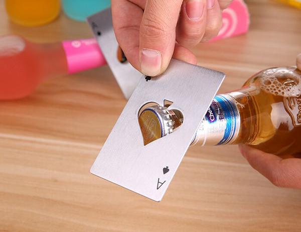 Tarjeta de juego de póquer elegante con estilo Ace of Spades Bar Tool Botella de refresco de cerámica