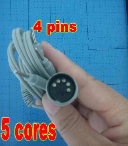 100pcs Electrode Lead Wires D5P Plug 4 Pin Connection Cables for Digital Massage TENS EMS machine