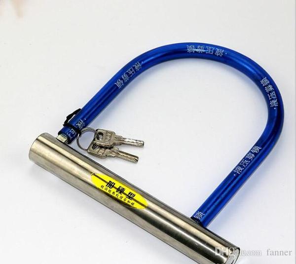mountain bike electric bicycle U lock Scooter guard road racing Bike Cycling Security Steel U Lock free shipping