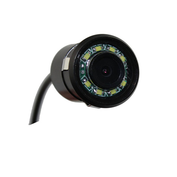 hd led waterproof rearview car camera pz404 1/4 cmos dc 12v ip67 night vision 18.5mm 170 degree 600tvl dhl