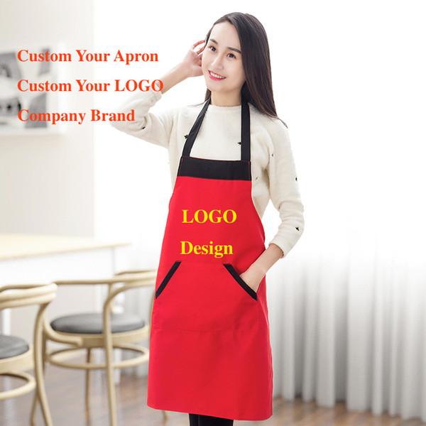 best selling Blank apron Men's and women's household waterproof antifouling fashion apron Custom design logo kitchen advertising aprons wholesale