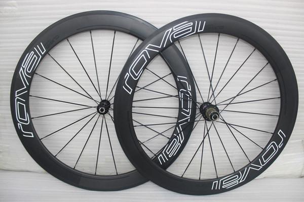 Powerway R36 cubos calcomanía blanca ruedas de carbono de carbono clincher de carbono 60mm juego de ruedas 700C llantas de bicicleta de carbono completo ruedas 3k ruedas de bicicleta de carretera