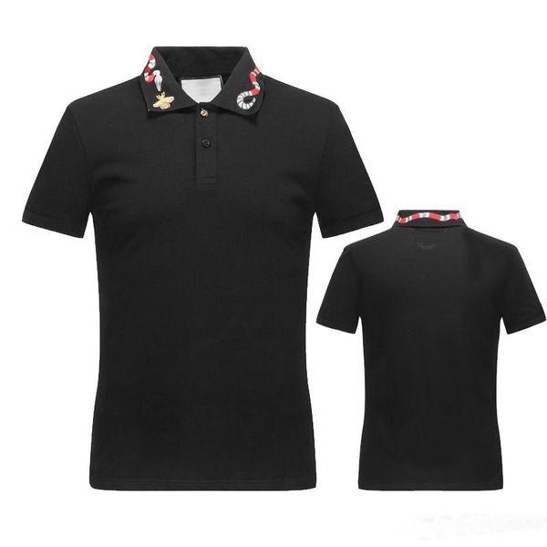 Spring Italy camiseta tee Polo High street bordado liga serpientes Little bee impresión ropa de moda marca polo camisa
