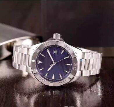 2017 hot sale Special Edition Automatic Watch For Men Blue Dial stainless steel Band Stainless Syeel Casual Mechanical watches
