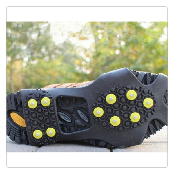 High Quality Ice Snow Grips Anti Slip Spikes Crampons Climbing Gripper Studs Ice Cleats Ice Snow Grips Over Shoe Boot Cover For Footwear