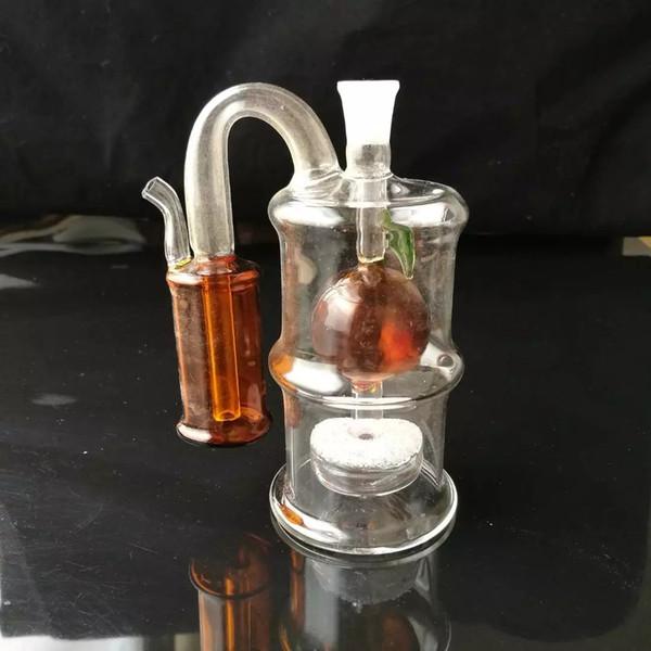 No interior da apple capas de vidro bongos acessórios, Tubos Coloridos Fumadores Tubos de Vidro Curvo Queimadores de Óleo Tubos de Água Dab Rig Bongos De Vidro